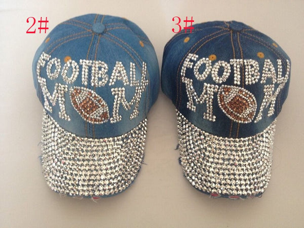 Luxury Fitted Baseball Caps Rhinestone snapback hats letter football cap