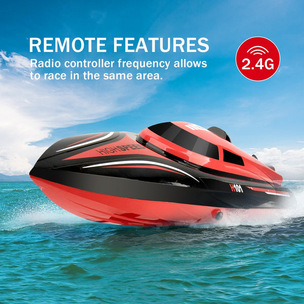 RC Boat Toy High Speed 30km/h 2.4GHz  180 Degree Flip with Servo Remote Control Boats Hobby Toys for Kids Gifts