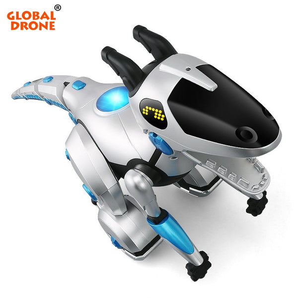 Global Drone Toys for Boys RC Dinosaur Gesture Sensing Dinosours Interactive Toy Educational Toys for Children RC Robot