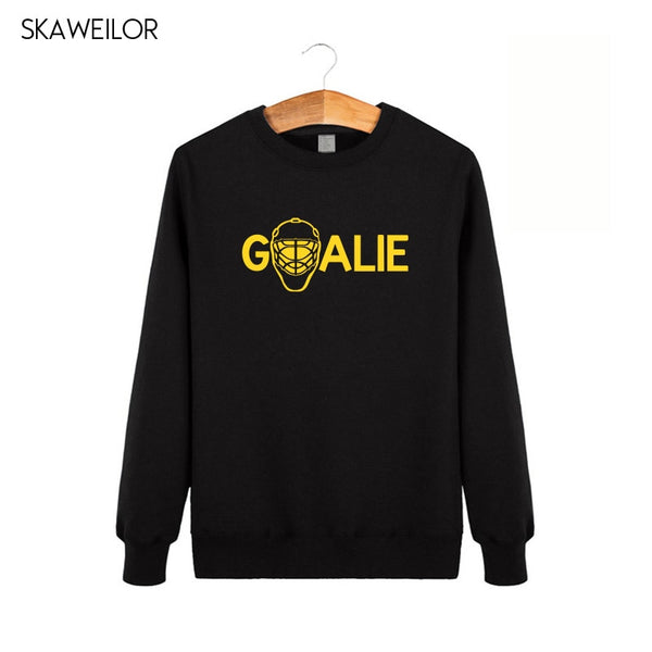 Goalies Hoodies Men 2018 Winter Fashion Long Sleeve Sweatshirts Men Funny Ice Hockeys Player Gift Brand Clothing
