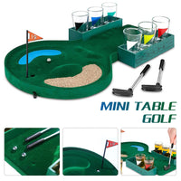 Golf Drinking Game Bar Wine Game Stainless Glasses Club Relax Golf Table Game Convenient Enjoyment Desktop Family Interesting