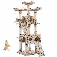 "Goplus New 66""/170cm Cat Tree Tower Condo Furniture Scratching Post Pet Kitty Play House Wood Climbing Tree for Cat PS5793"