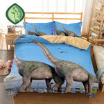 HELENGILI 3D Bedding Set Dinosaur Print Duvet cover set lifelike bedclothes with pillowcase bed set home Textiles #2-03