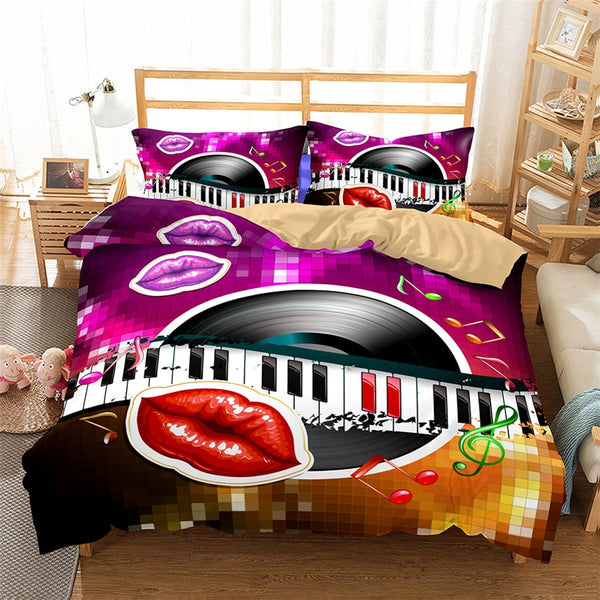 3D Bedding Set Love Touch Print Duvet cover set lifelike bedclothes with pillowcase bed set