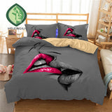 3D Bedding Set Lips Print Duvet cover set with pillowcase. 48 HOURS SALE. 15% OFF. Discount Code: LOVE15