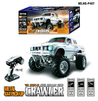 HG P407 1/10 2.4G 4WD 3CH Brushed Rally Rc Car TOYATO Metal 4X 4 Pickup Truck Rock Crawler RTR Toy Black White Gifts Boys Kids