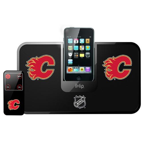 NHL Portable Premium IDock with Remote Control - Calgary Flames