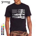 New America Flag Firearms Novelty Design T-Shirt Funny USA Flag Printing Tshirts High Quality Unisex Brand T shirt Men Tees