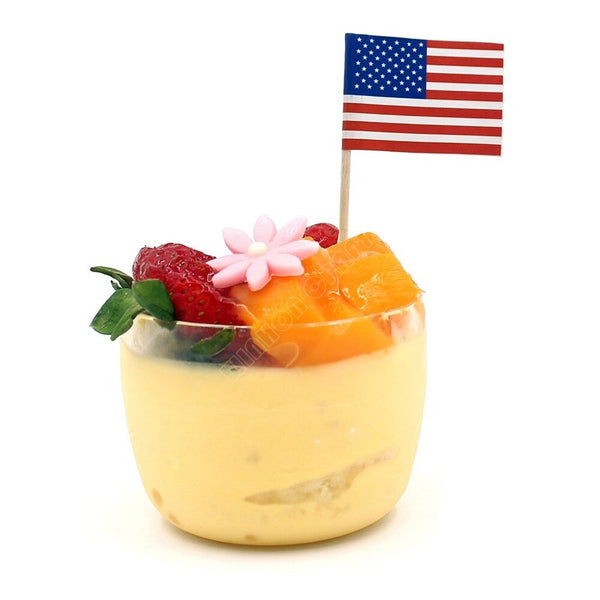 50Pcs Mini America Toothpick Flags Paper Food Picks USA Cake Toppers Fruit Cocktail Sticks DecorationToothpick