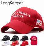 2020 Donald Trump Keep America Great Trump Caps Re-Election Hats Embroidery USA Flag Donald Trump Style Baseball Cap US Hot Caps