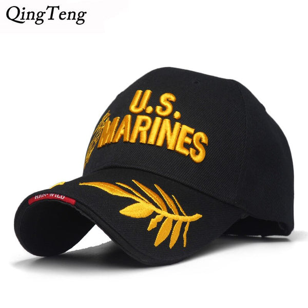 Men'S US MARINES Cap Corps Embroidered Ball Cap USA Navy Tactical Hats Snapback Cap Hat Adjustable Navy Seal Gorras
