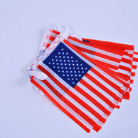 1 Set 20 Pcs String American flags Per Set Hanging USA Flag String America USA Bunting Banner Decoration National Flags