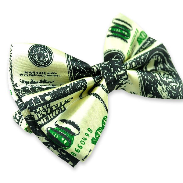 100 American Dollar U.S.dollar Men Novelty Polyester Bow ties Tuxedo Dress Bowtie Party Wedding Causal Butterfly Tie