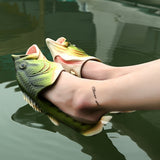 Fish Sandals Bling Family Matching Slipper Creative Type Fish Slippers Flip Flops Slides Fish Beach Slippers