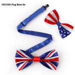 Novelty Bowtie Mens Suit Fashion Print UK/USA American Flag Big Bow ties for men  Red White Stars-and-Stripes