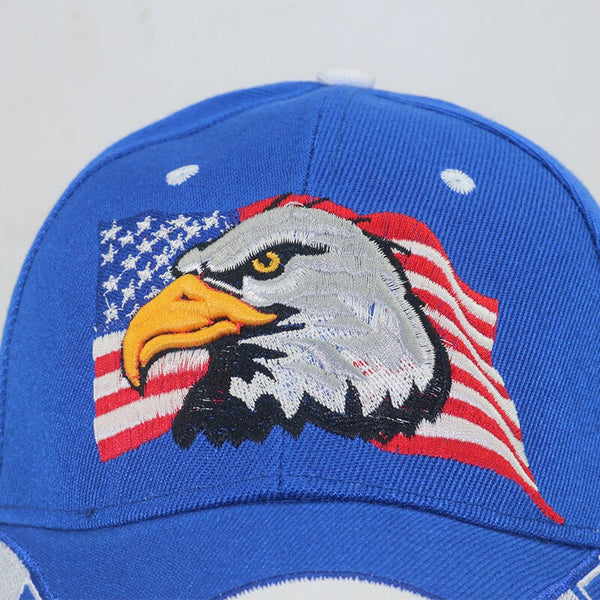 USA Flag Eagle 3D Embroidery Baseball Cap fashion Snapback Caps cheapu Hats  adustable Casual cap Gorras Dad Hats