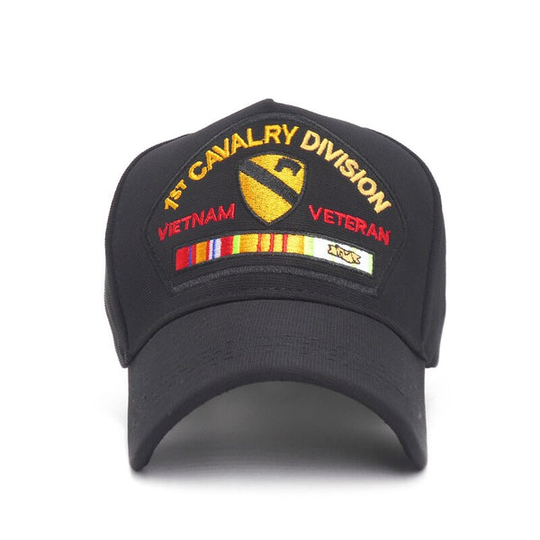 Usa 1st Cavalry Division Tactical Cap Outdoor Sports Black Baseball Caps For Men Army Women 5 Panel Hat Bone Gorras Wholesale