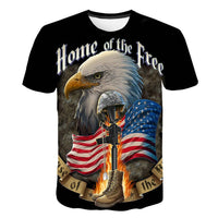 New American Eagle Printed 3D T-shirt Men USA Banner short sleeve shirt Hip Hop Men Women Eagle T shirt Dropship Tee Shirt Homme