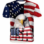 New American Eagle Print 3D T-shirt Men Women USA Banner short sleeve Hip Hop Eagle T shirt Boys Girls Dropship Tops Shirt Homme