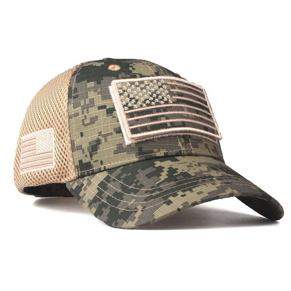 High Quality USA Flag Camouflage Baseball Cap For Men Snapback Hat Army American Flag Baseball Cap Bone Trucker Gorras