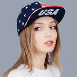 USA Flag Hip Hop Cap Snapback Baseball Caps Vogue Adjustable Female Basketball Hat Casual Cap Skateboard Brand