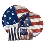 USA Disposable Plates/Cups/Paper Decor American Independence Day Disposable Tableware Set