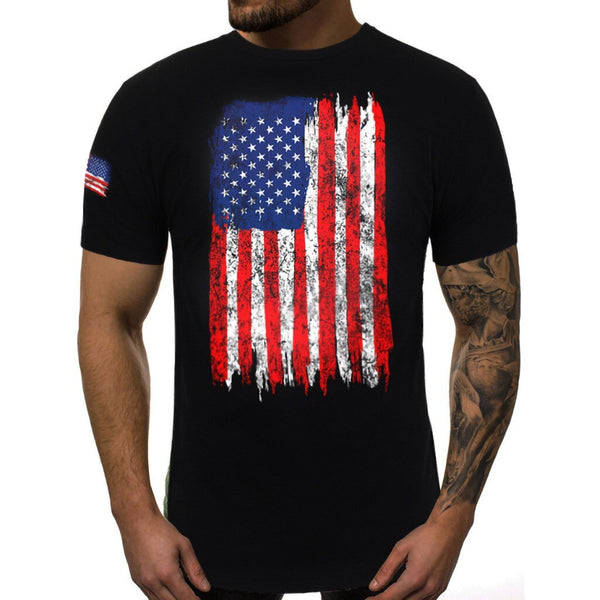 Men T-shirt Men USA pritn Shirt Summer Fashion Mens US Flag T-Shirt Muscle Tee American Patriotic USA Shirt Top  camiseta