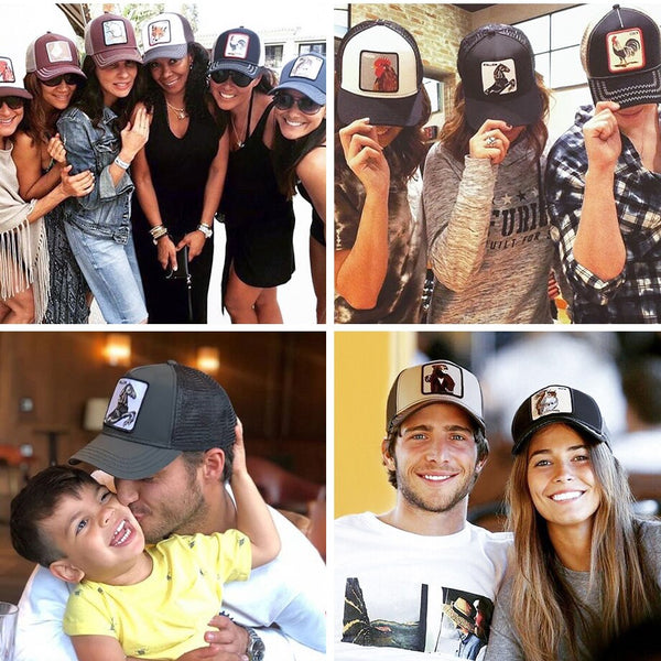 Baseball Caps Men Women Snapback Hip Hop Cap Summer Breathable Mesh Animals Farm Trucker Cap Hat Embroidery Dad Hats gorras 2019