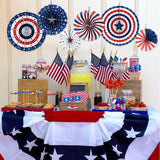 6pcs USA Party Decorations for Independence Day Party Background Wall Decoration Background Wall Decor Independence Day 4th July