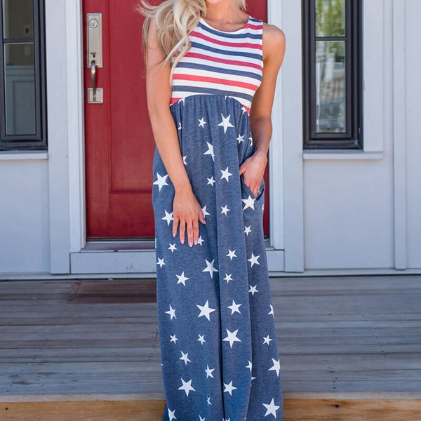 New American National Flag Dress Fourth of July the 4th Mura Maui Pink Lily Boutique For Women USA Girl Lady Dress