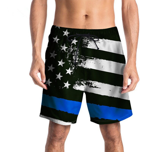 USA SIZE 2018 summer five pants Star flag Digital printing beach pants for men Vacation Shorts Fashion Men Board Shorts New
