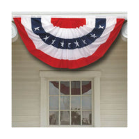 1.5x3 ft printed stripes stars USA Pleated Fan bunting Half  Banner flag for july 4th independence day decoration