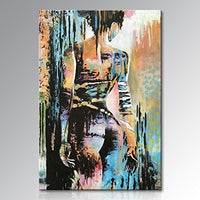 Hand Painted Nude Girl Wall Art Naked Lady Sexy Abstract Figure Oil Painting on Canvas  Sex Oil Painting For Wall art