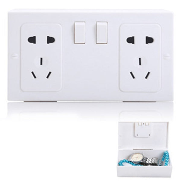 Hidden Fake Wall Plug Shape Safe Protect Secret Valuables Money Secret Collection Treasure Jewelry Security Plastic Storage Box