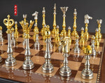 High Quality Chess Set With Non-Folding Wooden Chessboard 50*50 CM Size High-End Furniture Decoration Chess Free Shipping