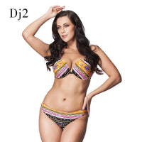 High-end Bikini Set Women Plus Size Sexy Vintage Retro Padded Swimwear Women Brazilian Push Up Bikini Swimsuit Beach Biquini 6XL