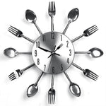 Knife, Fork and Spoon Wall Clock Decor