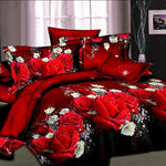 Leopard Rose 3D bedding sets King size 4 Pcs of duvet cover bed sheet pillowcase. Make sure Color number and Size number are the same.