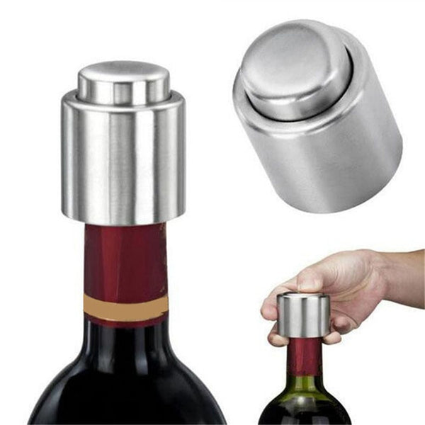 Hoomall 1Pc Stainless Steel Vacuum Wine Bottle Stopper Sealed Storage High Quality Plug Liquor Flow Stopper Pour Cap