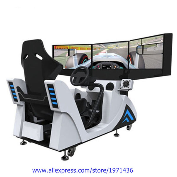 Hot Sale Three Screen Amusement Equipment Simulator Coin Operated Drive Car Racing Arcade Game Machine For Teenagers Adults