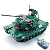 Hot modern military rc Panther M1A2 Abrams Main Battle Tank 2in1 building block model brick radio remote control toys collection