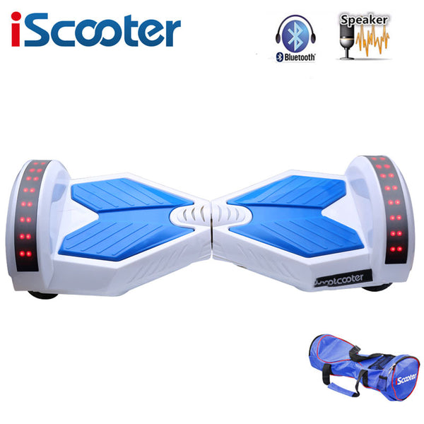 IScooter hoverboard 8 inch Bluetooth 2 Wheel Self balancing Electric Scooter two Smart Wheel with Remote key And LED Skateboard