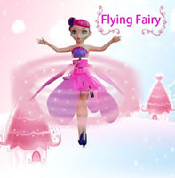 Fairy Magical Princess Dolls Infrared Light Suspension Flying doll Toys Mini RC Drone with Remote