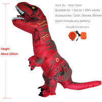 Inflatable Dinosaur T REX Costumes for Adult Kids Women Men Blowup Dinosaur Carnival Halloween Dino Cosplay Costume Mascot Party