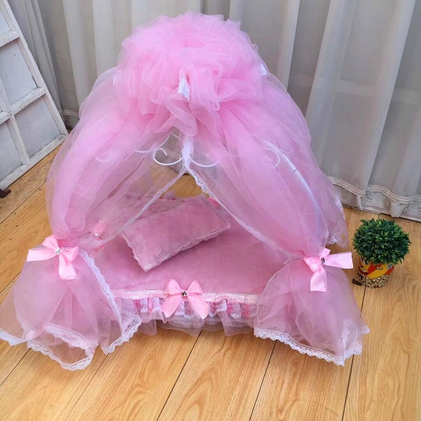 Iron pet bed pet nest Princess bed  eluxe court bed