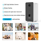 Dog Camera Treat Dispenser WiFi Remote Pet Camera with Two-Way Audio and Night Vision Compatible