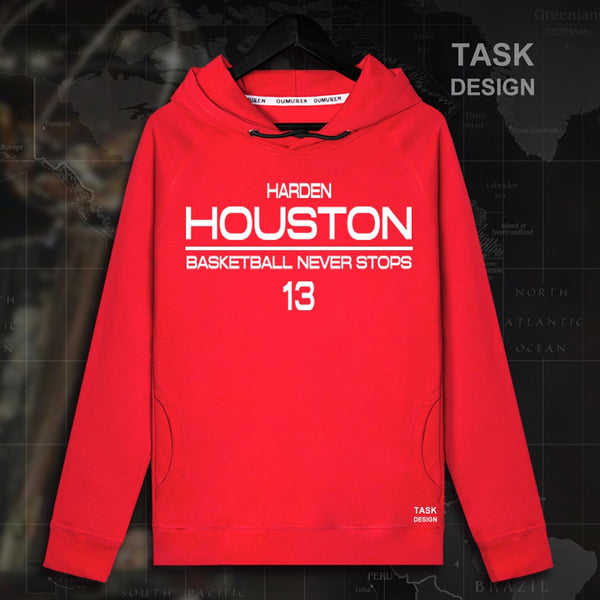 James Harden Men Thin section pullovers hoodies sweatshirt clothes streetwear tracksuit Houston USA basketballer star Rockets  1