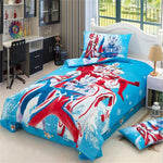 Japanese Anime Character Super Hero Ultraman Bedding Set Twin Size Cotton Bed Sheets Pillowcase Duvet Cover Children Bedroom Set