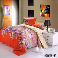 3D Bedding Sets Leopard Printed Tiger Flowers ( Queen Size ONLY ) 4Pcs Bedclothes Pillowcases Bed Sheet Duvet Cover Set