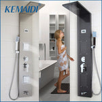KEMAIDI Modern Bathroom Stainless Steel Shower Column Wall Mounted One Handle +Handshower+Tub Spout+Massage System Shower Panel